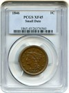 Image of 1846 1c PCGS XF45 (Small Date)