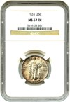 Image of 1924 25c NGC MS67 FH - Condition Rarity Gem