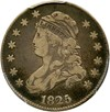 Image of 1825/4/2 25c PCGS/CAC VF25 (Browning 3)