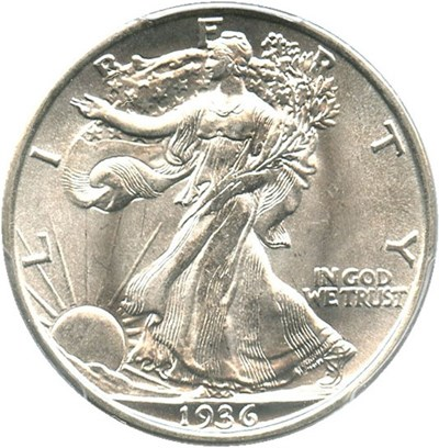 Image of 1936 50c PCGS MS64
