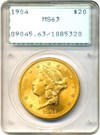 Image of 1904 $20 PCGS MS63 - OGH Rattler Holder - No Reserve!