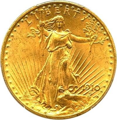 Image of 1910 $20 PCGS MS65