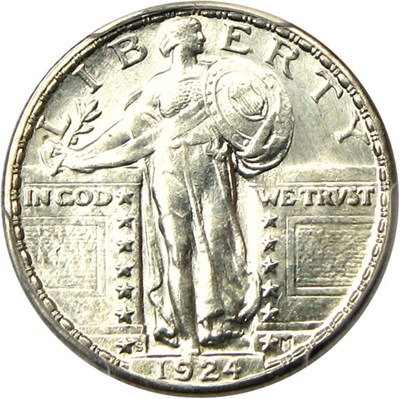 Image of 1924-S 25c PCGS MS64 - Key Date