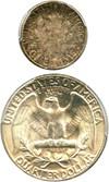 Image of Collector Lot: 1956 10c & 25c PCGS AU58, MS64 (2 Coins) - No Reserve!