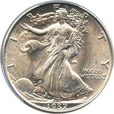Image of 1937 50c PCGS MS63