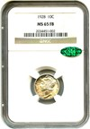 Image of 1928 10c NGC/CAC MS65 FB