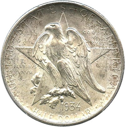 Image of 1934 Texas 50c PCGS MS65
