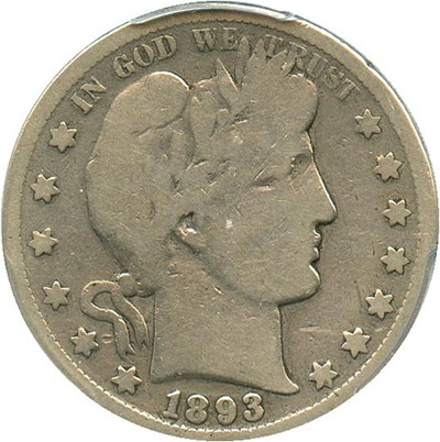 Image of 1893-S 50c PCGS Good-6 - Key Date