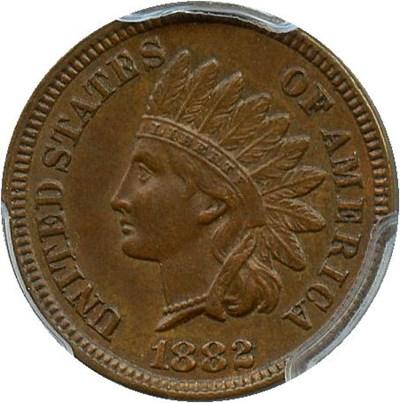 Image of 1882 1c PCGS AU58