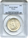 Image of 1937-S Texas 50c PCGS MS65