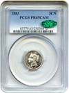 Image of 1883 3cN PCGS/CAC Proof 65 CAM