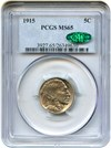Image of 1915 5c PCGS/CAC MS65