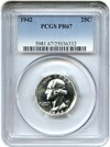Image of 1942 25c PCGS Proof 67
