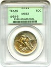 Image of 1938-S Texas 50c PCGS MS63 OGH