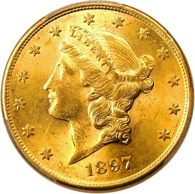 Image of 1897-S $20 PCGS AU58