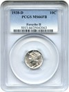 Image of 1938-D 10c PCGS MS66 FB