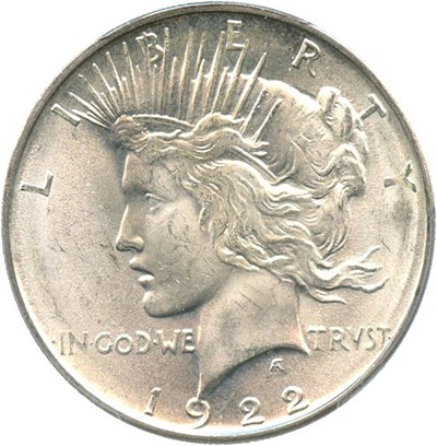 Image of 1922-D $1 PCGS MS63
