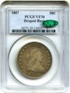 Image of 1807 50c PCGS/CAC VF30 (Draped Bust)