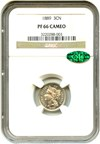 Image of 1889 3cN NGC/CAC Proof 66 Cameo