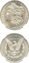 Image of 1886-O $1 NGC AU58
