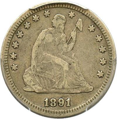 Image of 1891 25c PCGS F12