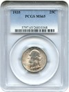 Image of 1935 25c PCGS MS65 - No Reserve!