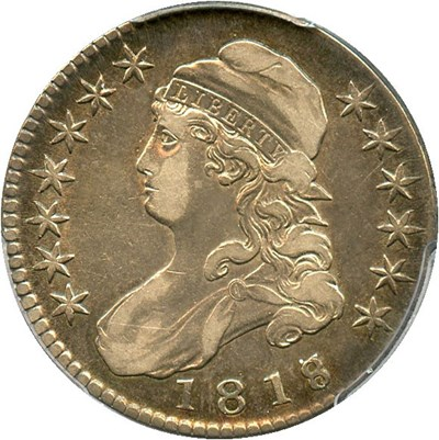 Image of 1818/7 50c PCGS/CAC VF35 (Large 8)