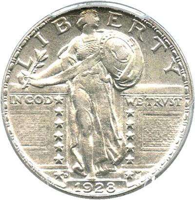 Image of 1928-D 25c PCGS AU55