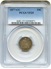Image of 1877-CC 10c PCGS VF25