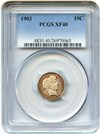 Image of 1903 10c PCGS XF40 - Colorful Toning