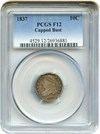 Image of 1837 10c PCGS F12 (Capped Bust)