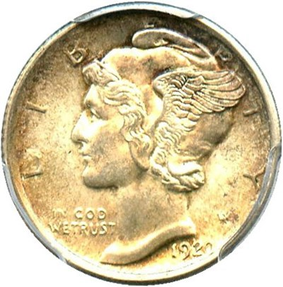 Image of 1920 10c PCGS MS63 FB