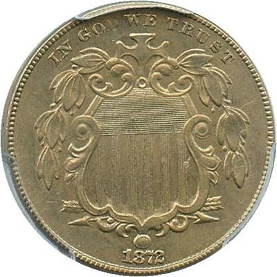 Image of 1872 5c PCGS/CAC MS62