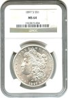Image of 1897-S $1 NGC MS64
