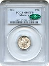 Image of 1916 Mercury 10c PCGS/CAC MS67 FB