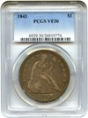 Image of 1843 $1 PCGS VF30