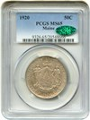 Image of 1920 Maine 50c PCGS/CAC MS65 - No Reserve!