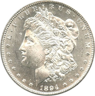Image of 1894-S $1 PCGS MS64 - Superb Eye Appeal