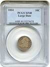 Image of 1814 10c PCGS XF40 (Large Date)
