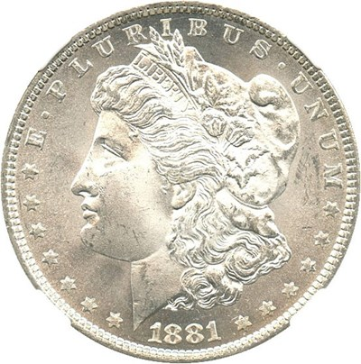 Image of 1881-O $1 NGC MS64