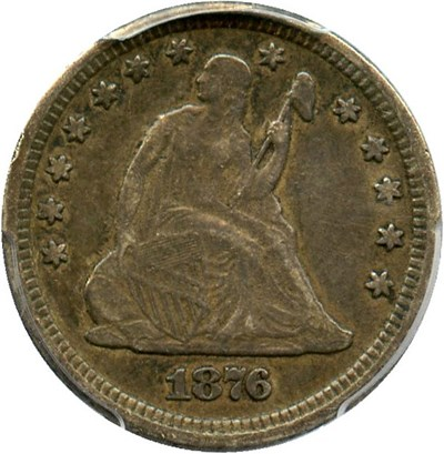 Image of 1876-CC 25c PCGS VF30
