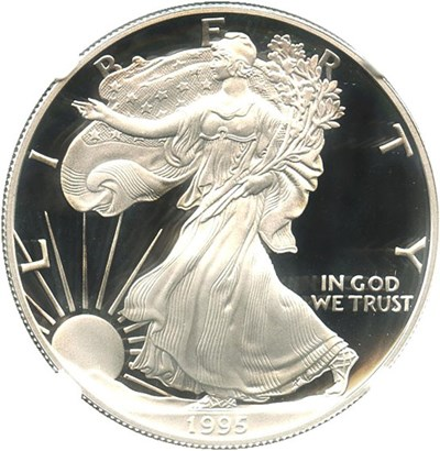 Image of 1995-W $1 NGC PR69 UCAM (Silver Eagle) Key Date