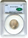 Image of 1885 5c PCGS/CAC MS64 - Key Date - No Reserve!