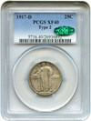 Image of 1917-D 25c PCGS/CAC XF40 (Type 2)