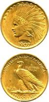 Image of 1907 $10 PCGS MS62 (No Motto)