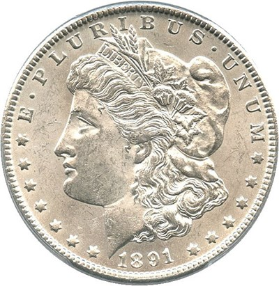 Image of 1891-CC $1 PCGS MS61