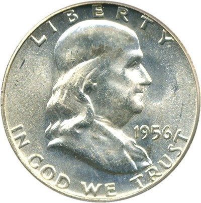 Image of 1956 50c PCGS MS65 FBL