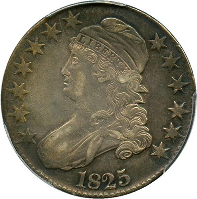 Image of 1825 50c PCGS AU53