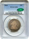 Image of 1804 25c PCGS/CAC Good-4 - Key Date
