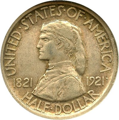 Image of 1921 Missouri 50c NGC/CAC AU58